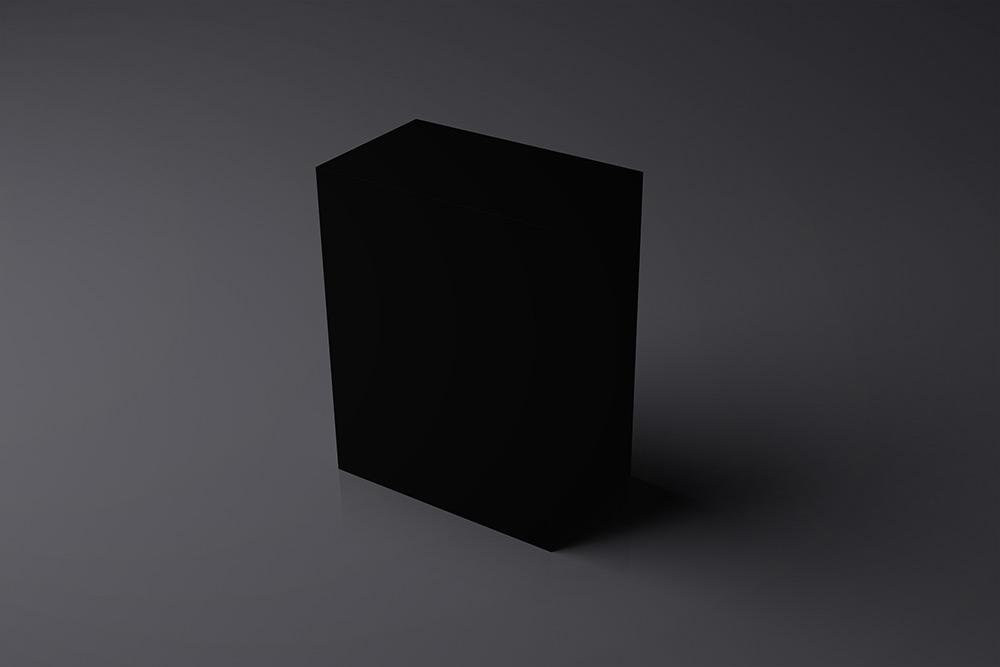 Software Box in Dark Studio Scene