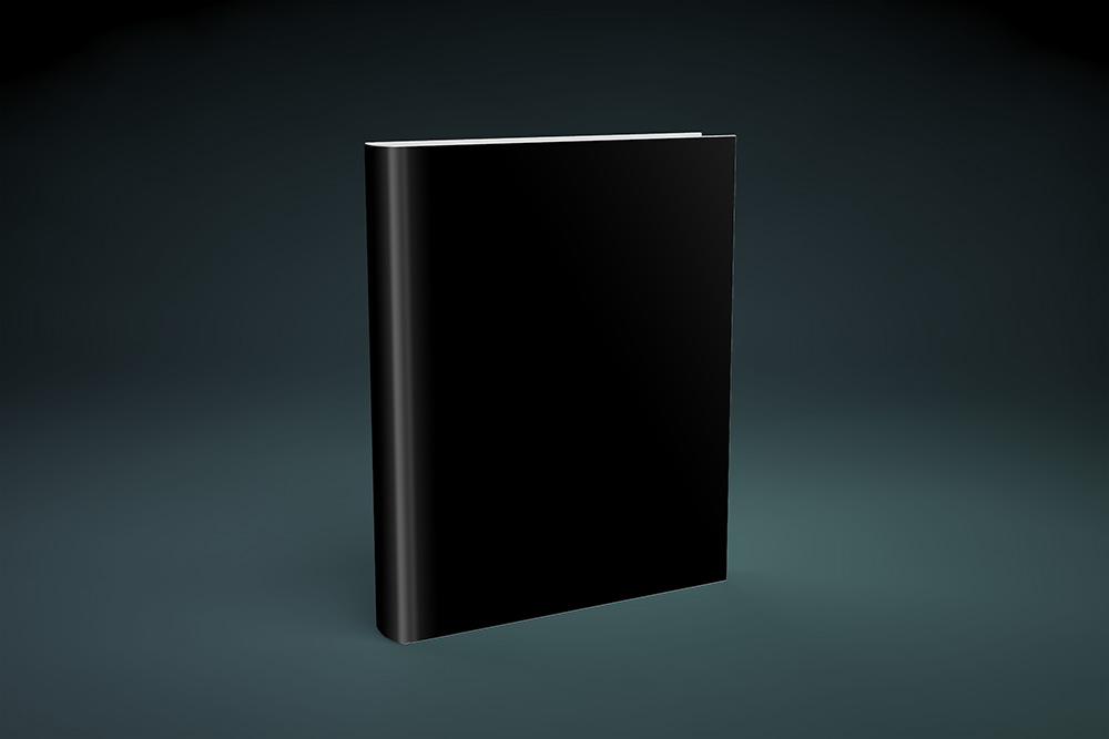 Book Cover with Spine in Studio Scene