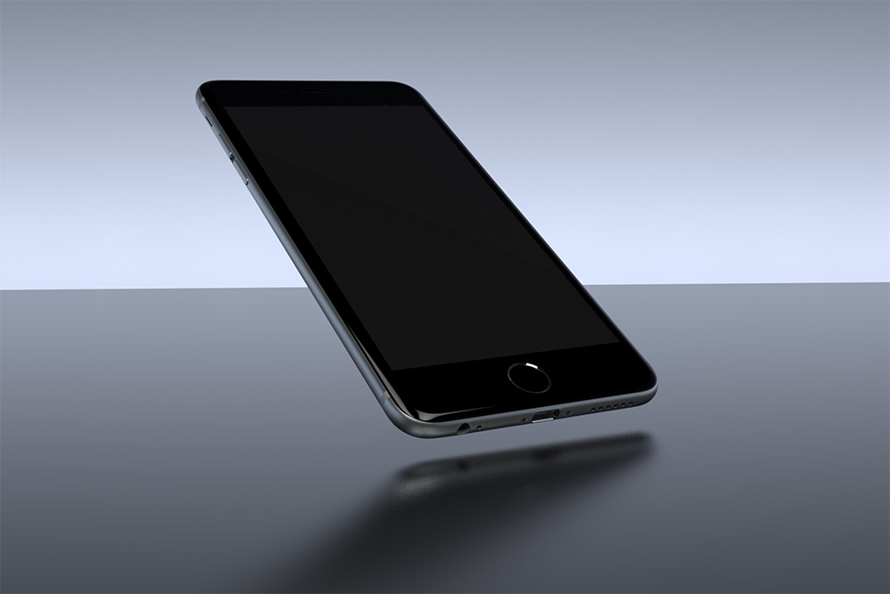 Floating Smartphone in Clean Environment