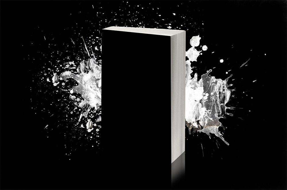 Paperback Book with Abstract Background